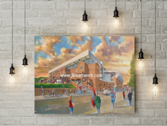 villa park going to the match canvas a2 size